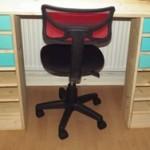 Selbst gebauter Schreibtisch